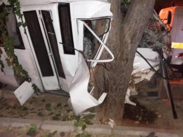 برخورد مینیبوس با درخت در تهرانپارس,اخبار حوادث,خبرهای حوادث,حوادث