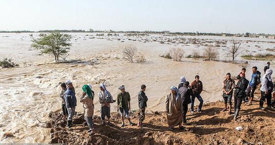 طغیان رودخانه در شهرستان های بشاگرد و میناب,اخبار حوادث,خبرهای حوادث,حوادث طبیعی