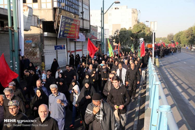 تصاویر راهپیمایی جاماندگان اربعین در تهران,عکس های راهپیمایی جاماندگان اربعین در تهران,تصاویری از عزاداری اربعین در تهران