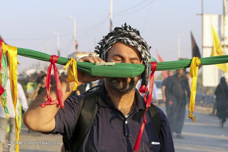 تصاویر زائران اربعین,عکس های زائران در مرز شلمچه,تصاویر حال و هوا در مرزهای ایران