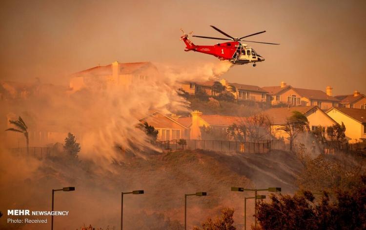 تصاویر آتش سوزی در کالیفرنیا,عکس های آتش سوزی در کالیفرنیا,تصاویر خسرات آتش سوزی در کالیفرنیا