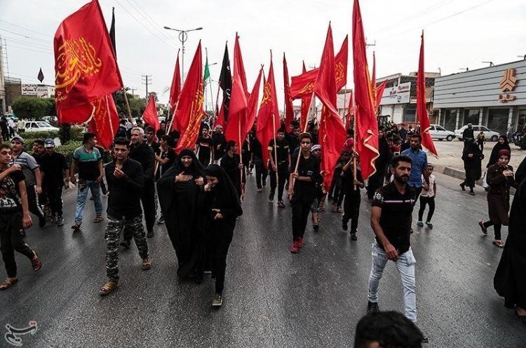 تصاویر پیادهروی مردم اهواز به کربلا,عکس های پیادهروی مردم اهواز به کربلا,تصاویر مراسم اربعین حسینی 98