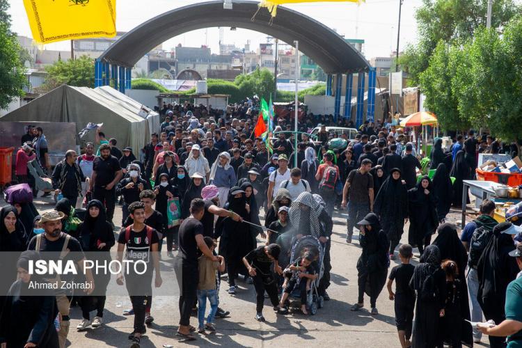 تصاویر ورود زائران اربعین به کربلا,عکس های ورود زائران اربعین به کربلا,تصاویر عزاداری روز اربعین