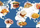 محبوبترین غذاها میان مردم دنیا,اخبار جالب,خبرهای جالب,خواندنی ها و دیدنی ها