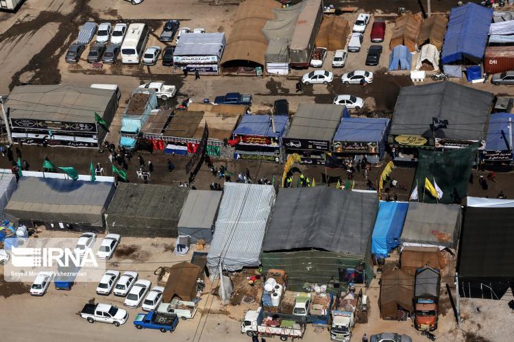 تصاویر هوایی از پایانه مرزی مهران,عکس های هوایی از پایانه مرزی مهران,تصاویر پایانه مرزی مهران