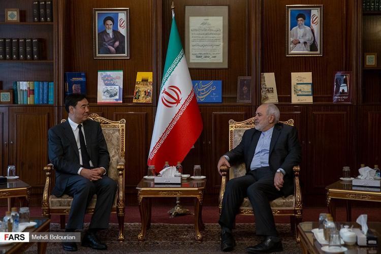 تصاویر دیدار فرستاده چین و محمدجواد ظریف,عکس های فرستاده چین و محمدجواد ظریف,تصاویر جای جون