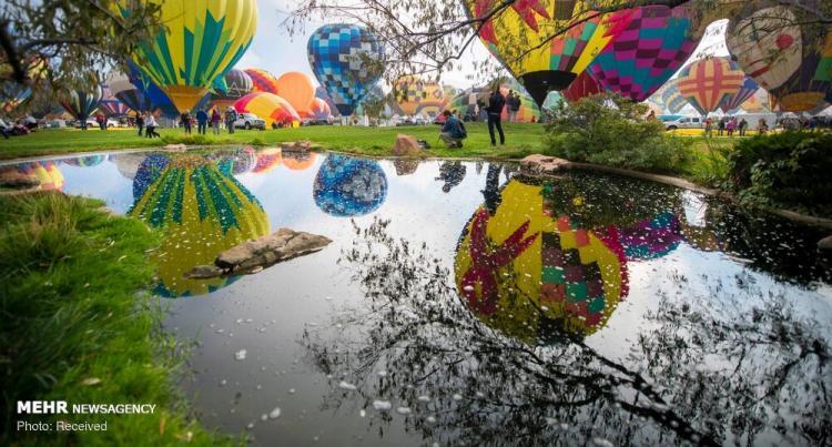 تصاویر جشنواره بین المللی بالون ها,عکس های جشنواره بین المللی بالون ها در نیومکزیکو,تصاویر جشنواره بین المللی بالون هادر نیومکزیکو