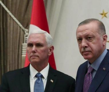 رجب طیب اردوغان و مایک پنس,اخبار سیاسی,خبرهای سیاسی,خاورمیانه
