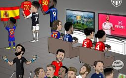 کارتون اتفاقات لیگهای اروپایی,کاریکاتور,عکس کاریکاتور,کاریکاتور ورزشی