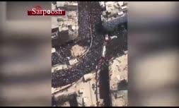 فیلم/ تصاویر هوایی از حضور زوار در کربلا