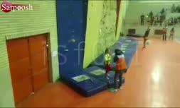 فیلم/ سقوط سنگنورد ۸ ساله اصفهانی