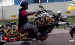 فیلم/ یکی از عجیبترین موتورسیکلتهای جهان ساخته شد
