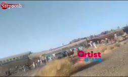 فیلم/ خارج شدن قطار زاهدان - تهران از ریل