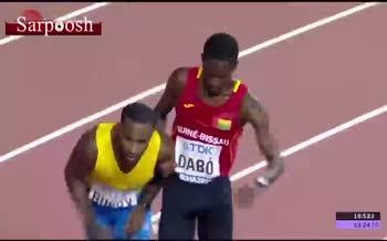فیلم/ لحظه ای دیدنی در مسابقات جهانی دوومیدانی