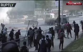 فیلم/ درگیری ها تظاهرات شدید در شیلی