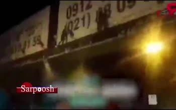فیلم/ لحظه اقدام به خودکشی دختر جوان از روی پل هوایی در رشت