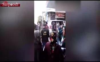 فیلم/ لحظه اصابت موشک ترکیه به مردم سوریه