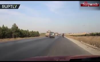 فیلم/ رویارویی ارتش سوریه و آمریکا در مسیر «منبج»