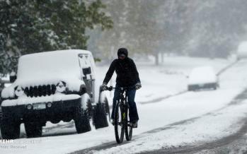 تصاویر برف در آمریکا,عکس های آب و هوای آمریکا,تصاویر اولین برف سال در آمریکا
