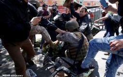تصاویر تظاهرات ضد دولتی در شیلی,عکس های اعتراضات در شیلی,تصاویر مردمان شیلی