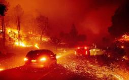 تصاویر آتش سوزی در کالیفرنیا,عکس های آتش سوزی در کالیفرنیا,تصاویر خسارات آتشسوزی در ایالت کالیفرنیا