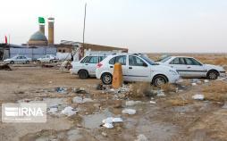 تصاویر انباشت زباله در مهران,عکس های انباشت زباله در مهران,تصاویر مرز بینالمللی مهران