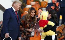 تصاویر دونالد و ملانیا ترامپ در جشن هالووین 2019,عکس های دونالد و ملانیا ترامپ در جشن هالووین 2019,تصاویر جشن هالووین 2019