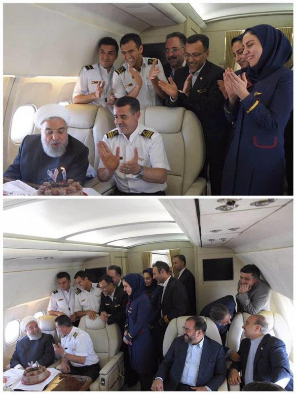 جشن تولد سورپرایزی حسن روحانی,اخبار سیاسی,خبرهای سیاسی,سیاست