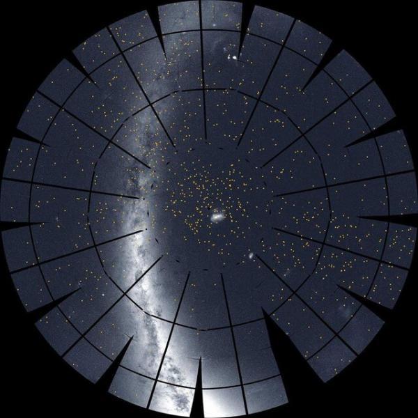 درخشش کمان کهکشان راه شیری درمیان دریایی از ستارهها و سیارات,اخبار علمی,خبرهای علمی,نجوم و فضا
