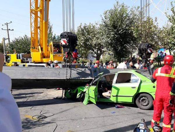 سقوط مرگبار جرثقیل در پارک بسیج,اخبار حوادث,خبرهای حوادث,حوادث امروز