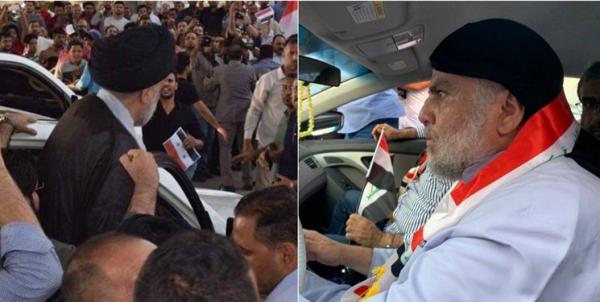 مقتدی الصدر در جمع معترضان در نجف,اخبار سیاسی,خبرهای سیاسی,خاورمیانه