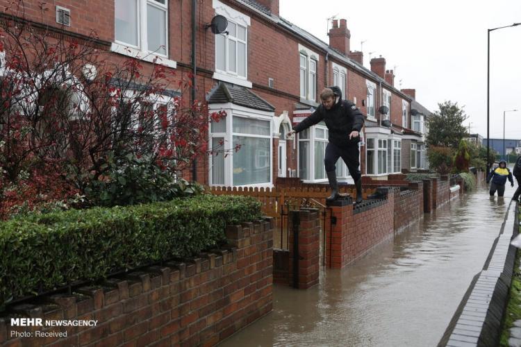 تصاویر سیل در انگلیس,عکس های سیل در انگلیس,تصاویر خسارات سیل در انگلیس