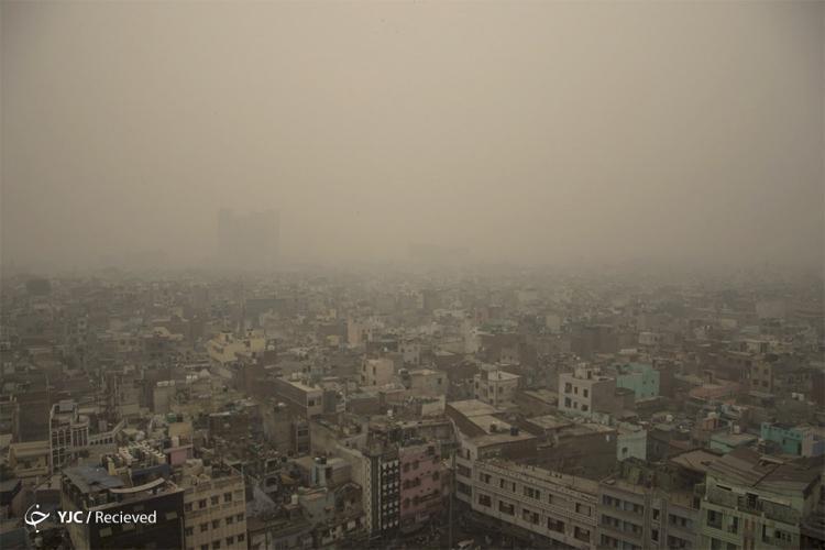 تصاویر آلودگی در دهلی نو,عکس های آتش سوزی مزارع در هند,تصاویر آلودگی شدید در هند
