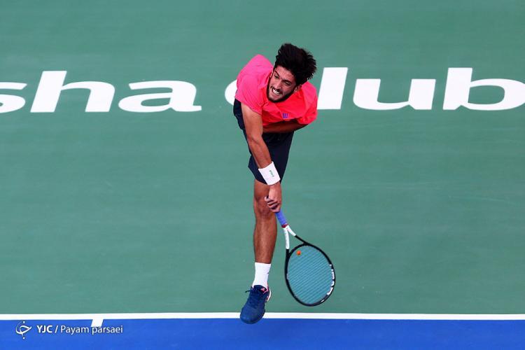 تصاویر فینال رقابتهای تنیسجایزه بزرگ آقایان و بانوان,عکس های رقابت های تنیس در ایران,تصاویر رقابت امیر حسین بادی و سینا مقیمی