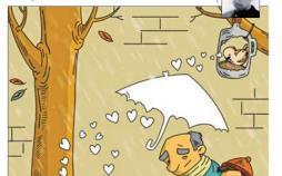 کاریکاتور فصل سرما و گرسنگی حیوانات,کاریکاتور,عکس کاریکاتور,کاریکاتور اجتماعی