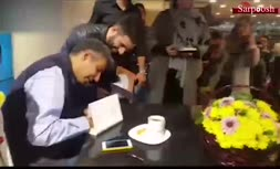 فیلم/ صف طولانی هواداران عادل فردوسیپور برای گرفتن امضاء