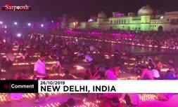 فیلم/ برگزاری جشن بزرگ دیوالی در هند