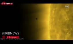 فیلم/ لحظهای دیدنی از گذر عطارد از کنار خورشید