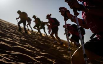 تصاویر مسابقه ماراتن صحرا در مراکش,عکس های مسابقات ماراتن زنان,تصاویر مسابقات ماراتن