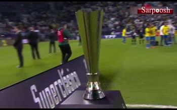 فیلم/ مراسم اهدای جام سوپرکلاسیکو به تیم ملی آرژانتین