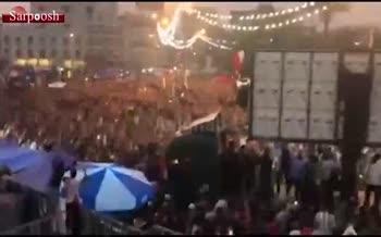 فیلم/ شادی عراقیها پس از شکست ایران در میدان تحریر بغداد