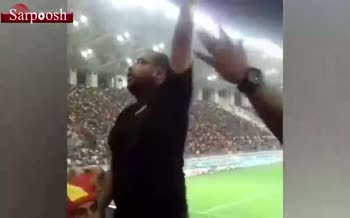فیلم/ بازداشت بوقچی تیم فولاد خوزستان در اهواز
