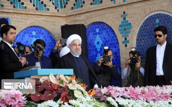 تصاویر سفر حسن روحانی به یزد,عکس های سفر حسن روحانی به یزد,تصاویر حسن روحانی