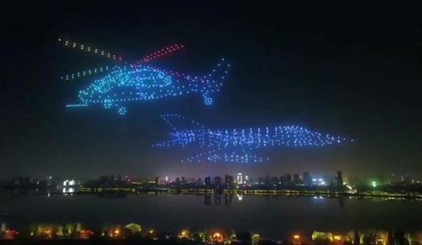 اجرای چند پهباد در نمایش هوایی چین,اخبار جالب,خبرهای جالب,خواندنی ها و دیدنی ها