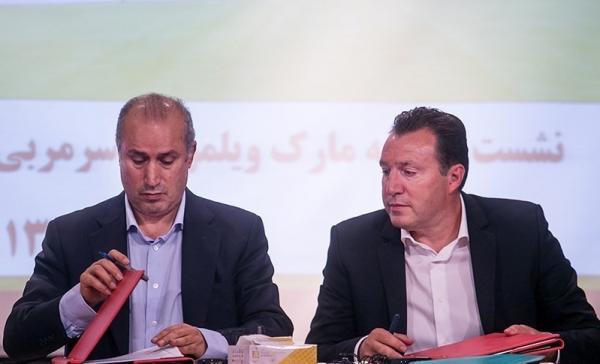 مارک ویلموتس و مهدی تاج,اخبار فوتبال,خبرهای فوتبال,فوتبال ملی
