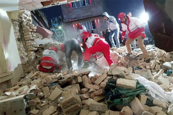 ریزش ساختمان نیمه کاره در تبریز,اخبار حوادث,خبرهای حوادث,حوادث امروز