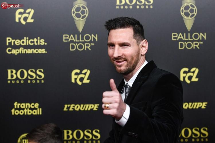 تصاویر مراسم توپ طلا 2019,عکس لیونل مسی در مراسم توپ طلا 2019,تصاویر بازیکنان فوتبال مراسم توپ طلا 2019