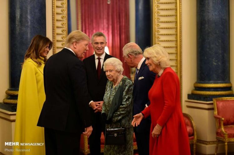 تصاویر نشست ناتو در لندن,عکس های سران نشست ناتو,تصاویر دونالد ترامپ در لندن