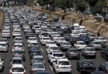 ترافیک در آزادراه قزوین-کرج-تهران,اخبار اجتماعی,خبرهای اجتماعی,وضعیت ترافیک و آب و هوا