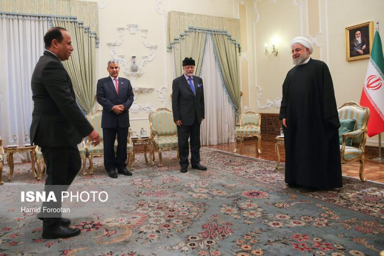 تصاویر دیدار حسن روحانی و یوسف بن علوی,عکس های دیدار حسن روحانی و یوسف بن علوی,تصاویر رئیس جمهور کشور